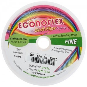 Econoflex Wire .014 Dia. 30 Ft (9m) 1x7 Strand Cinnamon Red