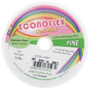 Econoflex Wire .014 Dia. 30 Ft (9m) 1x7 Strand Steel Grey