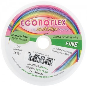 Econoflex Wire .014 Dia. 30 Ft (9m) 1x7 Strand Snow White