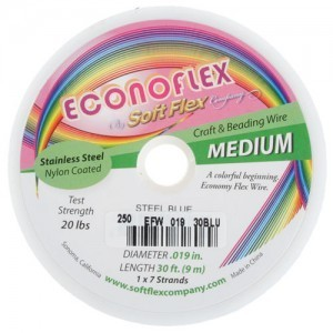 Econoflex Wire .019 Dia. 30 Ft (9m) 1x7 Strand Steel Blue