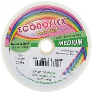 Econoflex Wire .019 Dia. 30 Ft (9m) 1x7 Strand Spring Green