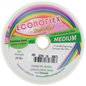 Econoflex Wire .019 Dia. 328 Ft (100m) 1x7 Strand Steel Grey