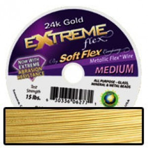 Extreme Flex Wire .024 Dia. 30 Ft. 19 Strand 24kt Gold