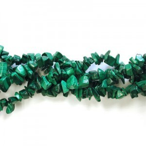 Malachite Semiprecious Chips Approx 16 Inch Strand