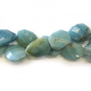 30x22mm Amazonite Faceted Squared Tear Drop 16 Inch Strand (Approx.14 Beads)