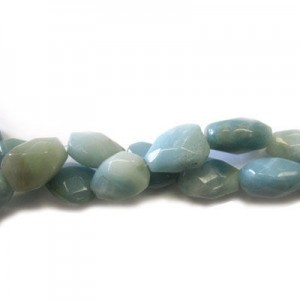 20x15mm Amazonite Faceted Nugget 16 Inch Strand (Approx.21 Beads)