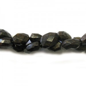 20x15mm Bronzite Faceted Nugget 16 Inch Strand (Approx.21 Beads)