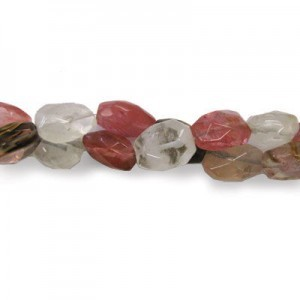 20x15mm Golden Strawberry Quartz Faceted Nugget 16 Inch Strand (Approx.21 Beads)