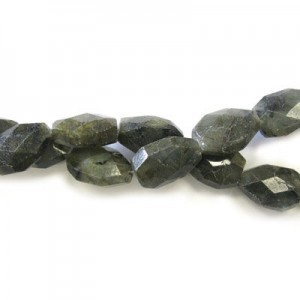 20x15mm Labradorite Faceted Nugget 16 Inch Strand (Approx.21 Beads)