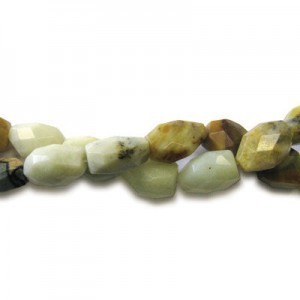 20x15mm Multi Color Jade Faceted Nugget 16 Inch Strand (Approx.21 Beads)
