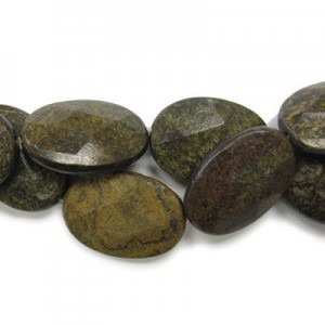 35x25mm Bronzite Faceted Oval 16 Inch Strand (Approx.12 Beads)