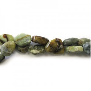 25x18mm Multi Color Jade Faceted Flat Nugget 16 Inch Strand (Approx.16 Beads)