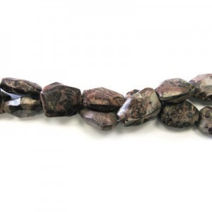 25x18mm Pietersite Faceted Flat Nugget 16 Inch Strand (Approx.16 Beads)