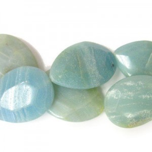 40x30mm Amazonite Faceted Tear Drop 16 Inch Strand (Approx.10 Beads)