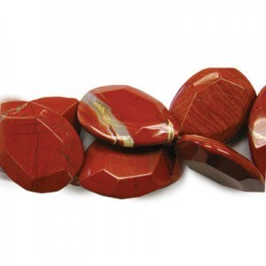 40x30mm Red Jasper Faceted Tear Drop 16 Inch Strand (Approx.10 Beads)