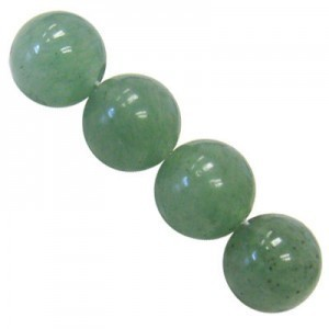 10mm Green Aventurine Smooth Round Bead 16 Inch Strand (Approx. 40 Beads)