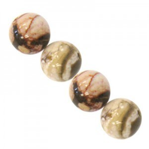8mm Cappuccino Smooth Round Bead 16 Inch Strand (Approx. 50 Beads)