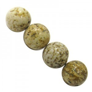 6mm Picture Jasper Smooth Round Bead 16 Inch Strand (Approx. 67 Beads)