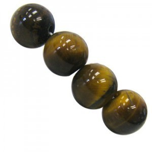10mm Tiger Eye AB Smooth Round Bead 16 Inch Strand (Approx. 40 Beads)