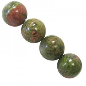10mm Unakite Smooth Round Bead 16 Inch Strand (Approx. 40 Beads)