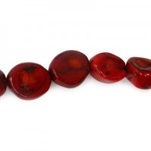 16-20mm Red Coral (Dyed) Chunky Nugget Bead 16 Inch Strand (Approx. 22 Beads)