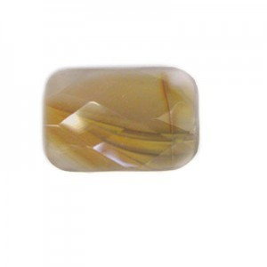 30x20mm Carnelian Faceted Rectangle Bead 16 Inch Strand (Approx. 14 Beads)