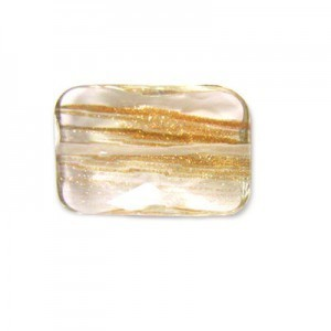 30x20mm Golden Sunstone Faceted Rectangle Bead 16 Inch Strand (Approx. 14 Beads)