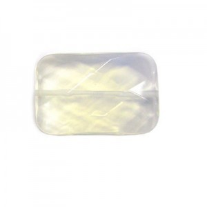 30x20mm White Opal Faceted Rectangle Bead 16 Inch Strand (Approx. 14 Beads)