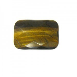 30x20mm Tiger Eye Faceted Rectangle Bead 16 Inch Strand (Approx. 14 Beads)