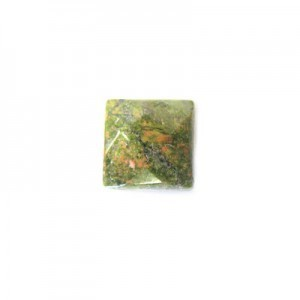 10mm Unakite Faceted Square Bead 16 Inch Strand (Approx. 41 Beads)