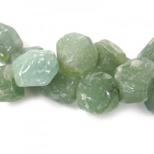 Approx 20x15 Green Aventurine Hand Chipped Oval Irregular Nugget Bead 30 Beads Per Strand