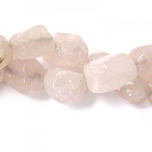 Approx 20x15 Rose Quartz Hand Chipped Oval Irregular Nugget Bead 30 Beads Per Strand