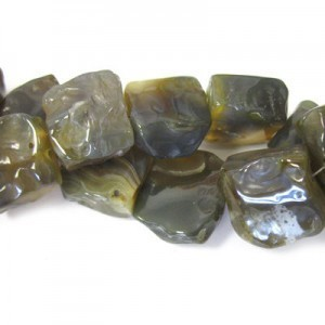 Approx 19mm Jasper Hand Chipped Square Bead 20 Beads Per Strand