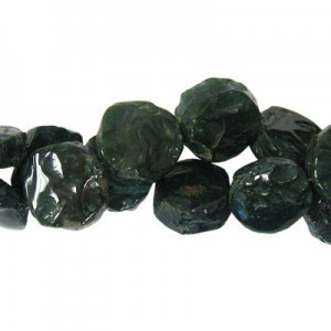Approx 20mm Bloodstone Hand Chipped Coin Bead 30 Beads Per Strand