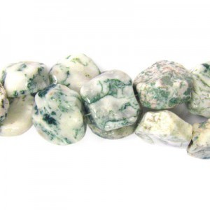 Approx 20mm Tree Agate Hand Chipped Coin Bead 30 Beads Per Strand