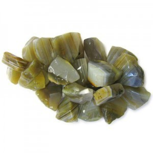 Approx 20mm Banded Agate Hand Chipped Triangle Drop 30 Beads Per Strand
