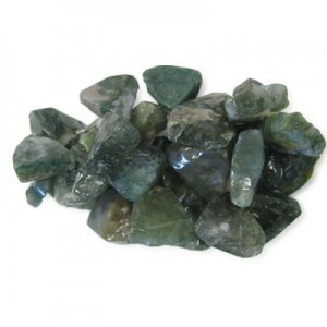 Approx 20mm Moss Agate Hand Chipped Triangle Drop 30 Beads Per Strand
