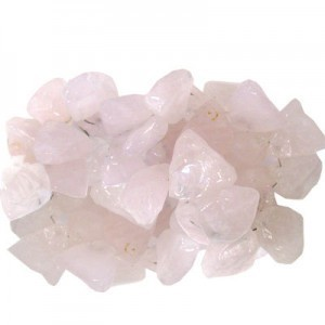 Approx 20mm Rose Quartz Hand Chipped Triangle Drop 30 Beads Per Strand