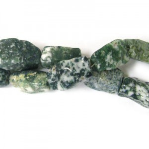 Approx 21x15 Tree Agate Hand Chipped Rectangle Bead 20 Beads Per Strand