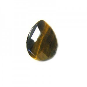 12x16mm Tiger Eye Top Drilled Faceted Almond 16 Inch Strand (Approx. 25 Beads)