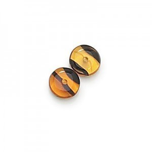 4mm Tortoise Shell Smooth Pressed Glass Rondelles Loose (600pc)