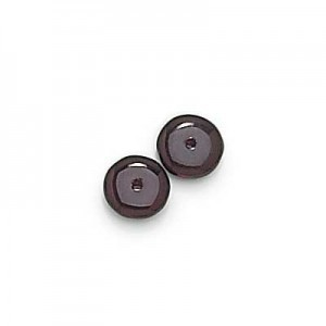 8mm Garnet Smooth Pressed Glass Rondelles Loose (300pc)