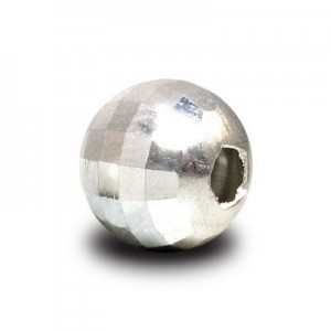 2.5mm New Mirror Round Bead 1.2mm Hole Sterling Silver .925 100pcs