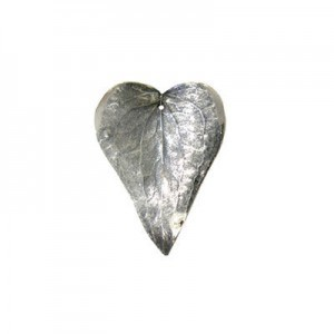 Small 40mm -1mm Hole Silver Plated Shiny Natural Prickly Ivy Leaves 2 Pcs