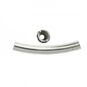 24x3mm Curved Tube 1.9mm Id Style Sterling Silver 10pcs