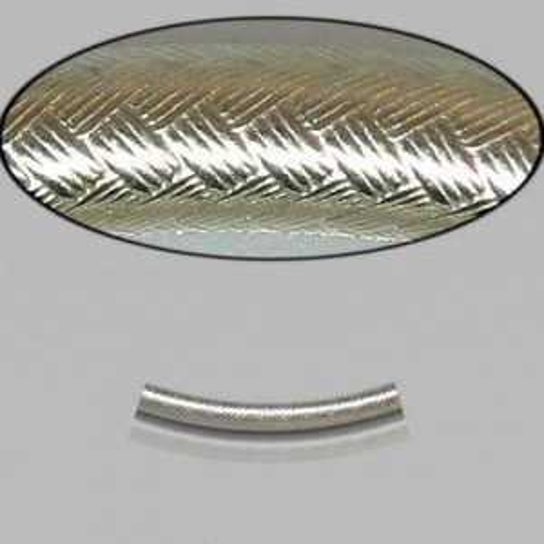 2x20mm Sterling Silver Noodle Tube Wicker 10pcs