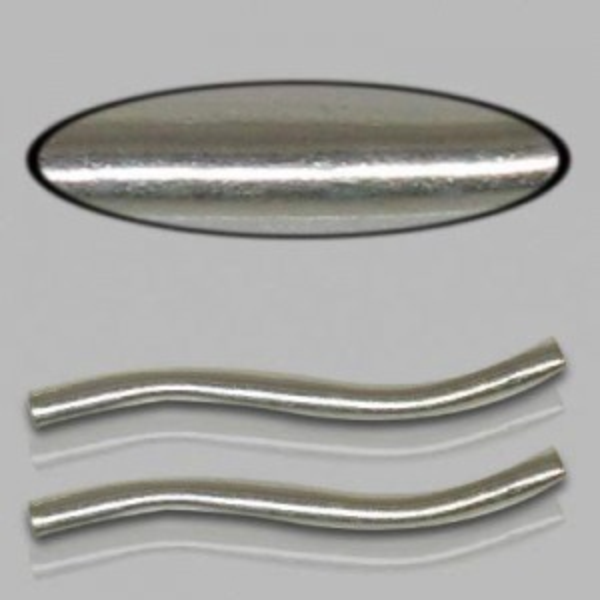 1.5x20mm Sterling Silver S Shape Noodle Plain 10pcs