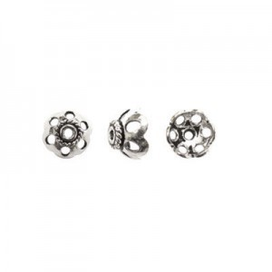 8.5mm Bead Cap for 8-10mm Bead Sterling Silver 10pcs