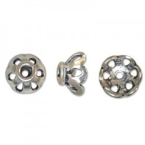 6mm Bead Cap for 6-8mm Bead Sterling Silver 50pcs