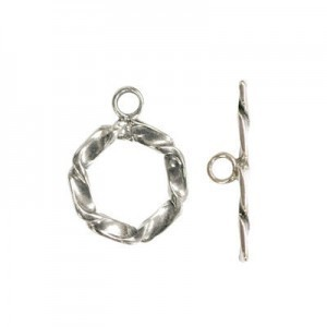 T Bar 19 x 12mm  pack 10 Sterling Silver Toggle Clasp